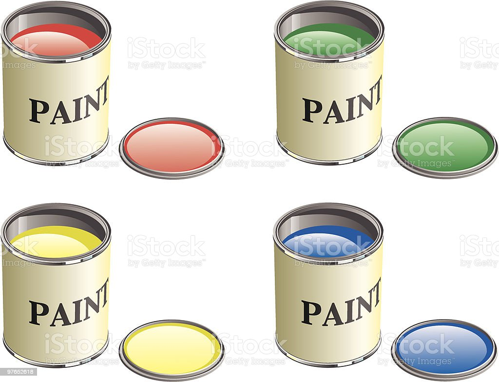 Paint Can vector art illustration