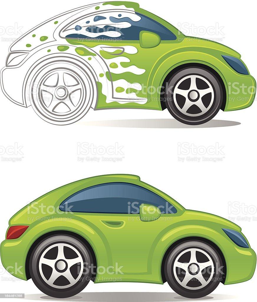 Paint car royalty-free stock vector art