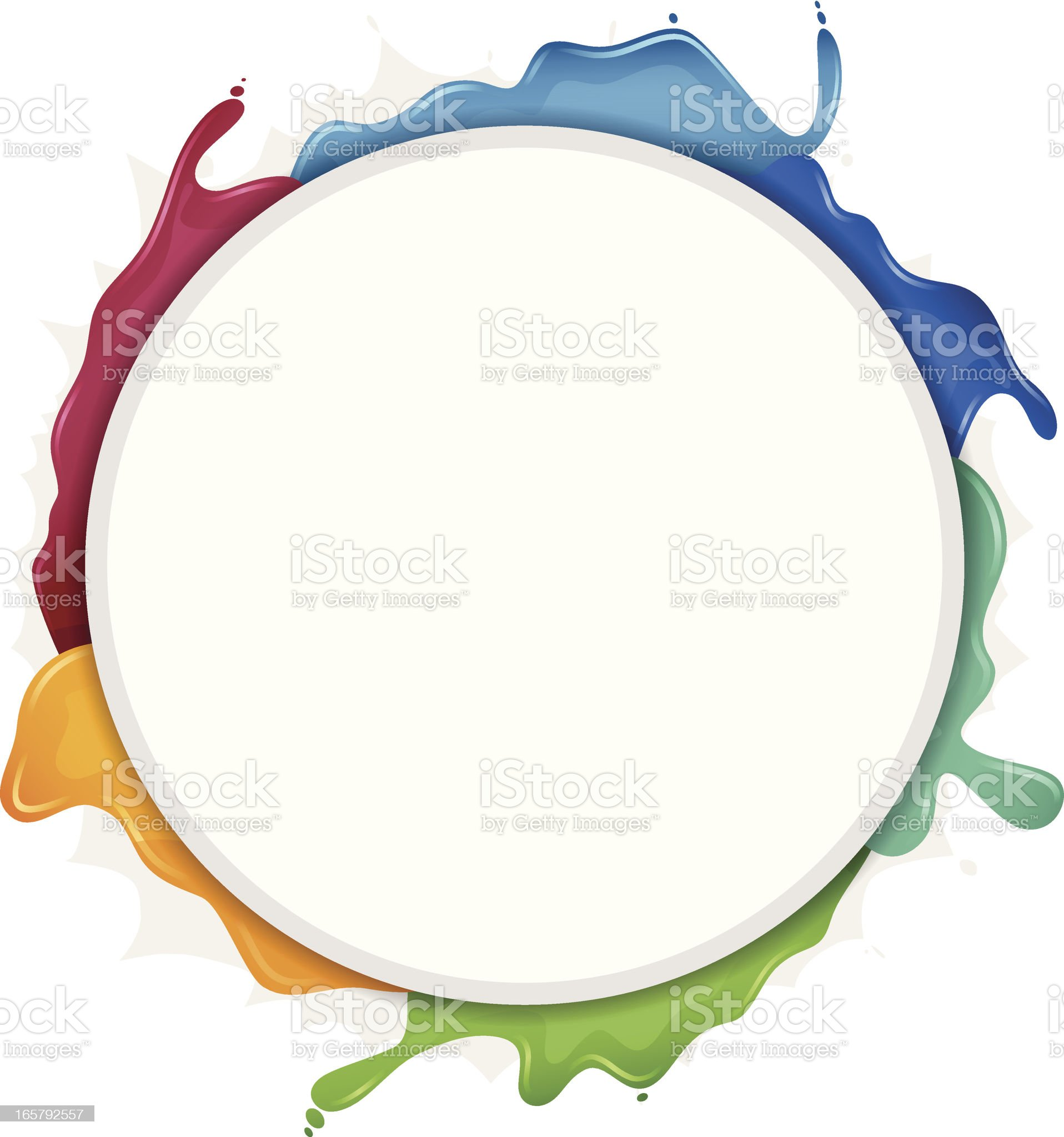 Paint Circle Frame royalty-free stock vector art