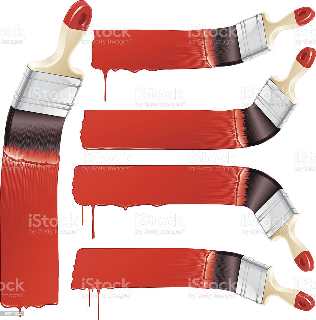 paint it red royalty-free stock vector art