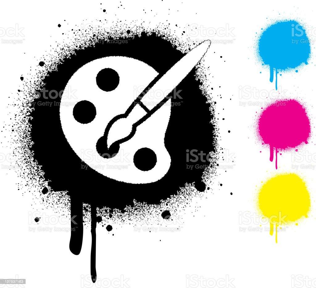 CMYK paint palette concept royalty-free stock vector art