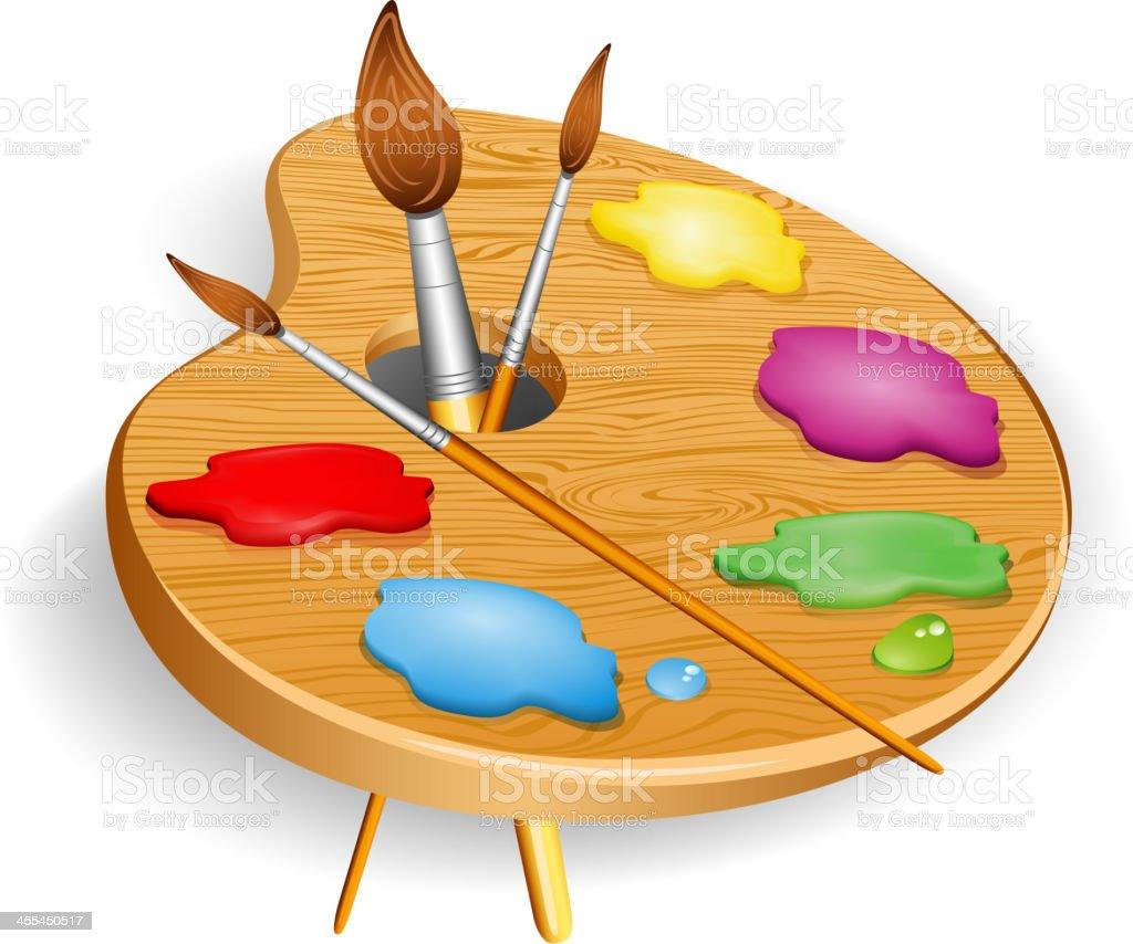 Paint palette royalty-free stock vector art