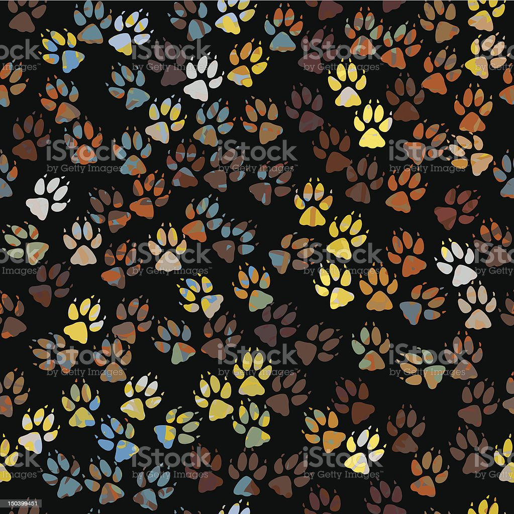 Paint paws tile royalty-free stock vector art