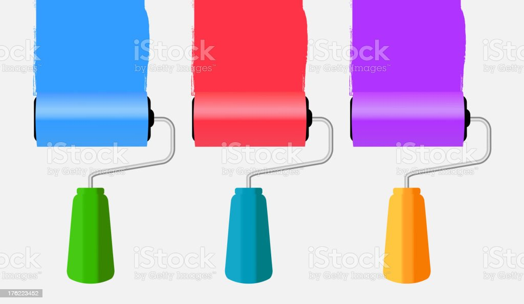 Paint roll icon vector illustration royalty-free stock vector art