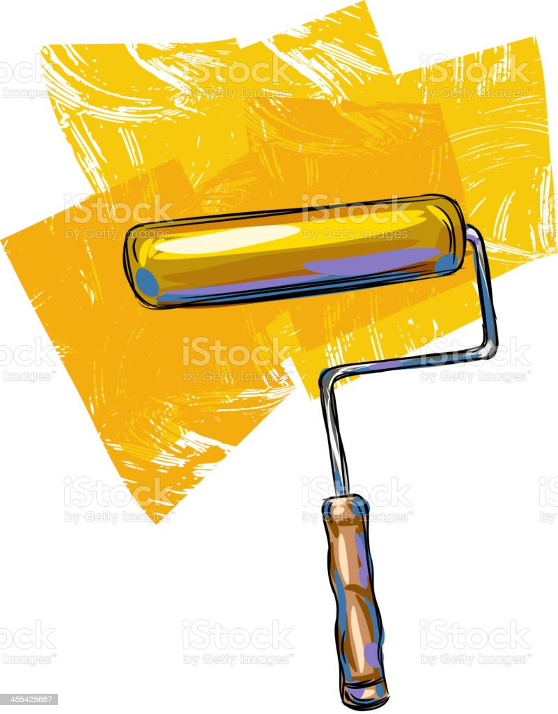 Paint Roller vector art illustration