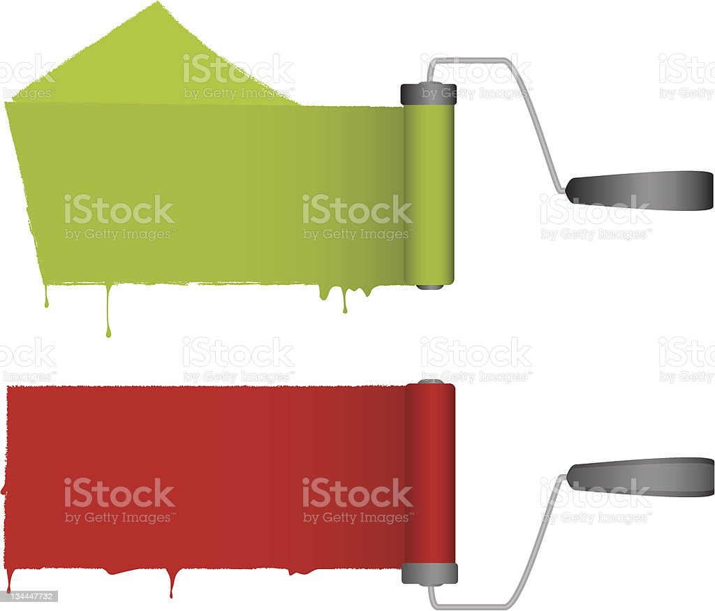 Paint Rollers royalty-free stock vector art
