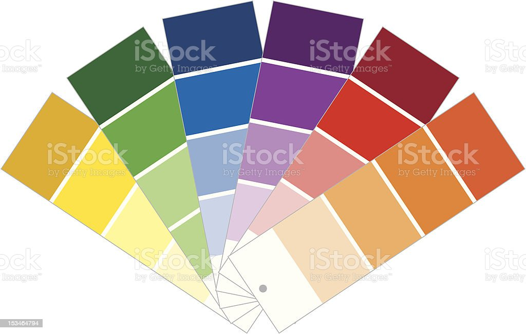 Paint Samples royalty-free stock vector art