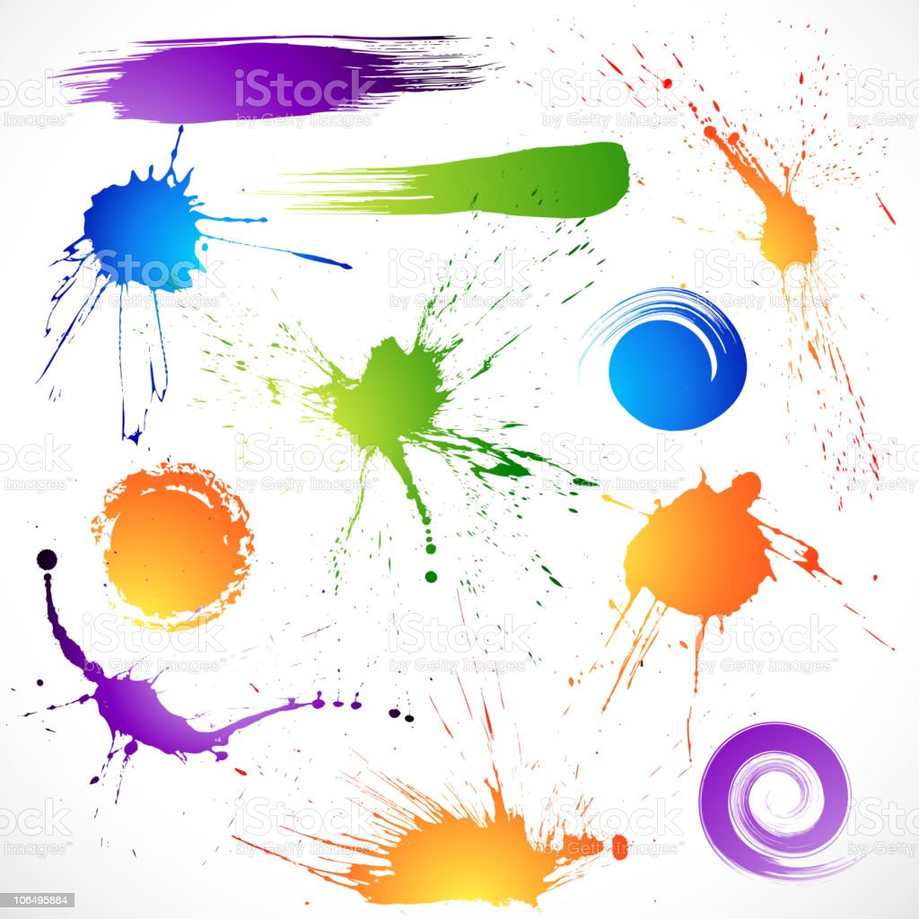 Paint splashes royalty-free stock vector art