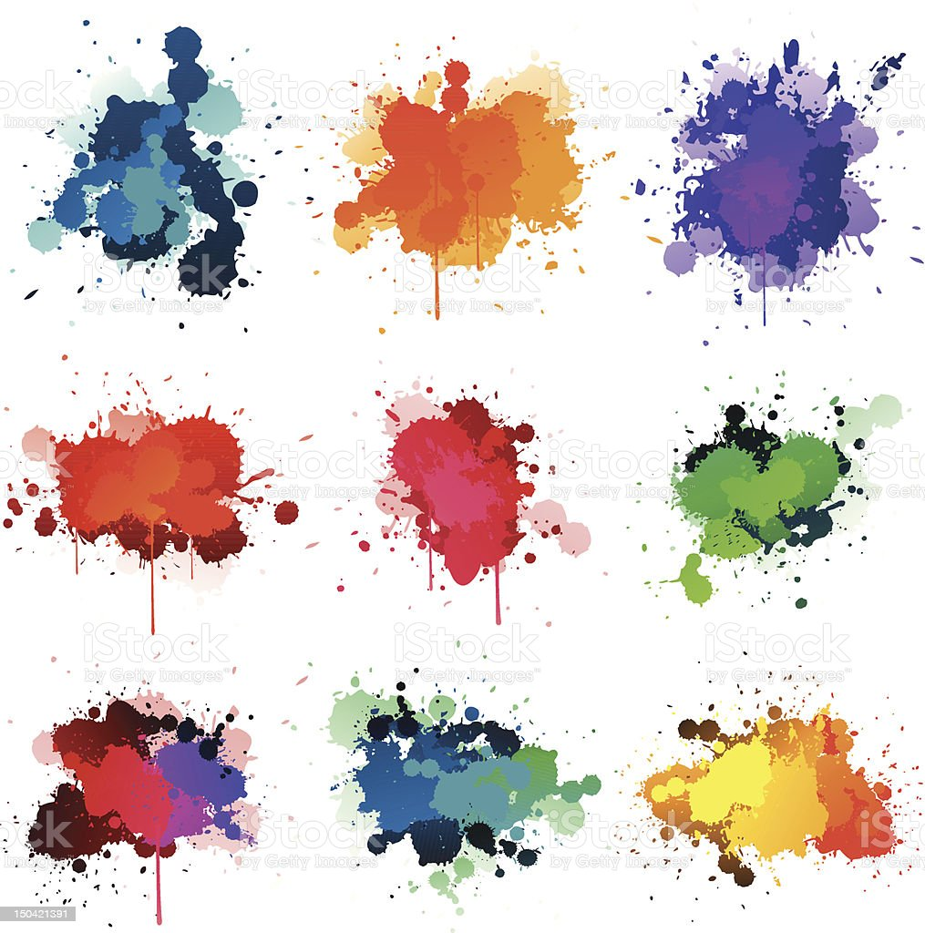 Paint splat vector art illustration