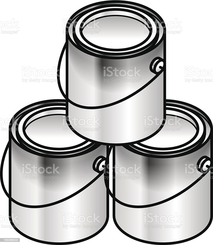 Paint Tins royalty-free stock vector art