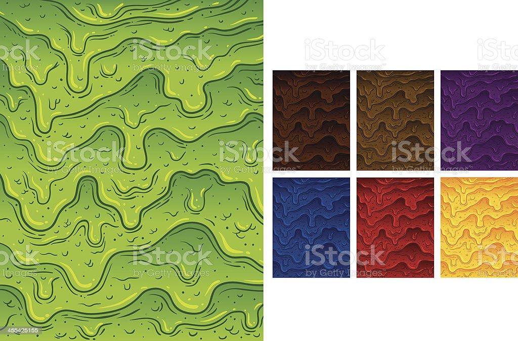 Paint Wall Drip vector art illustration