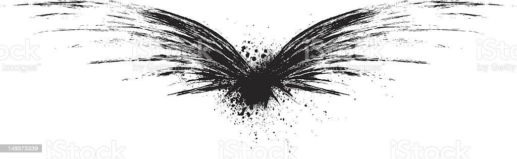 Paint Wings vector art illustration