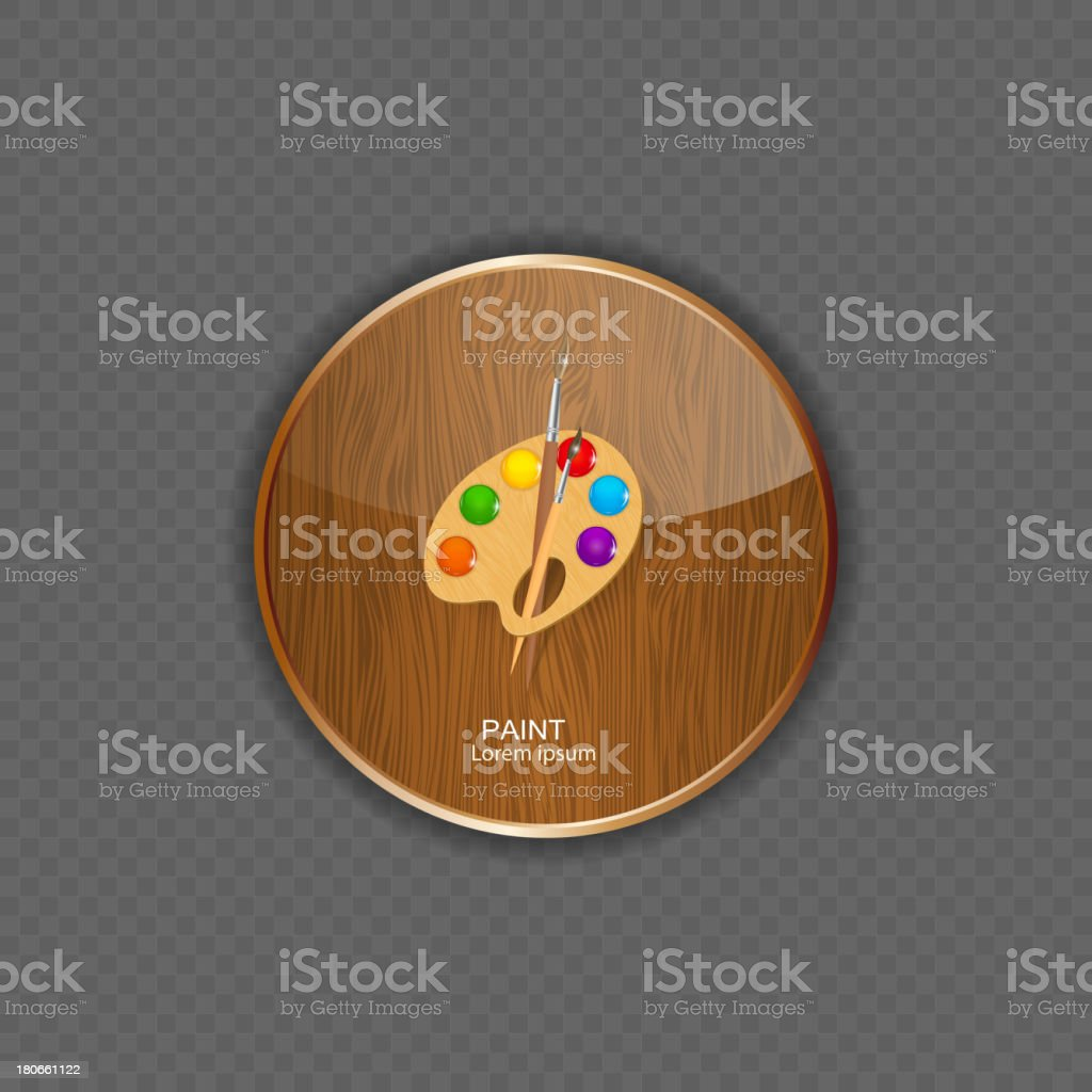 Paint wood application icons vector illustration royalty-free stock vector art