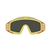 Paintball goggles flat icon
