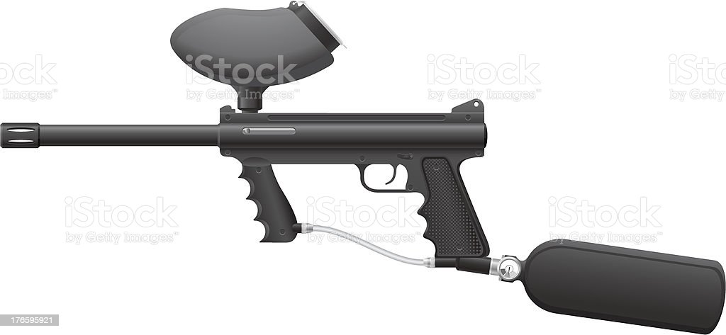 paintball markers vector illustration royalty-free stock vector art