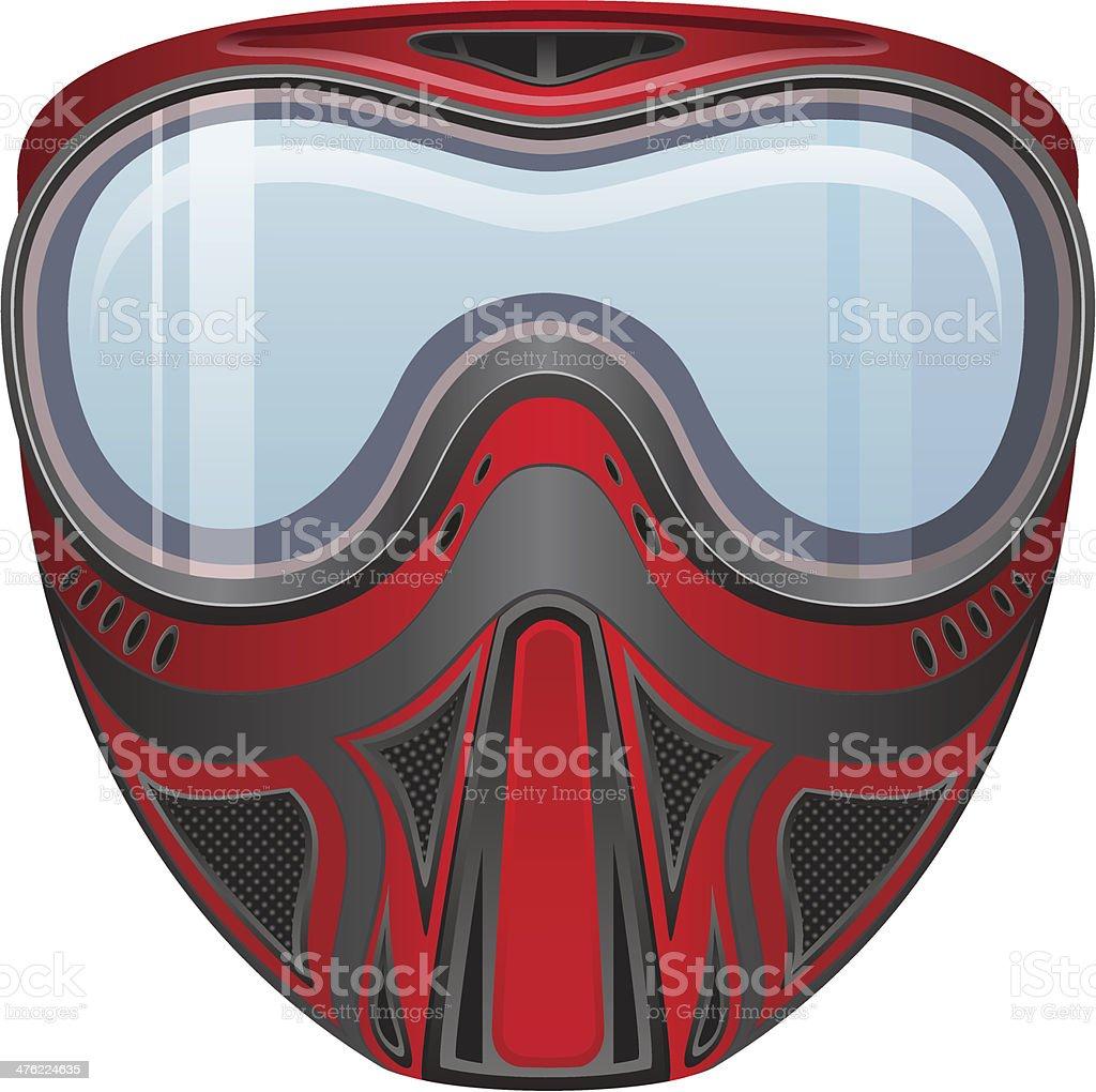 paintball mask vector illustration royalty-free stock vector art