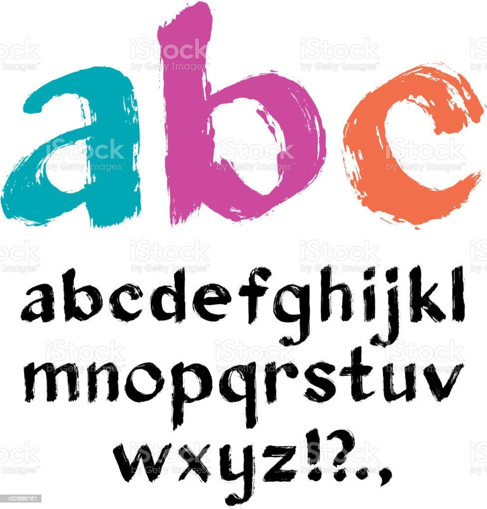 Paintbrush alphabet royalty-free stock vector art