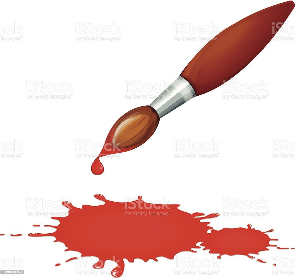 Paintbrush vector art illustration