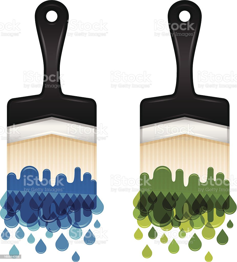 Paintbrushes royalty-free stock vector art