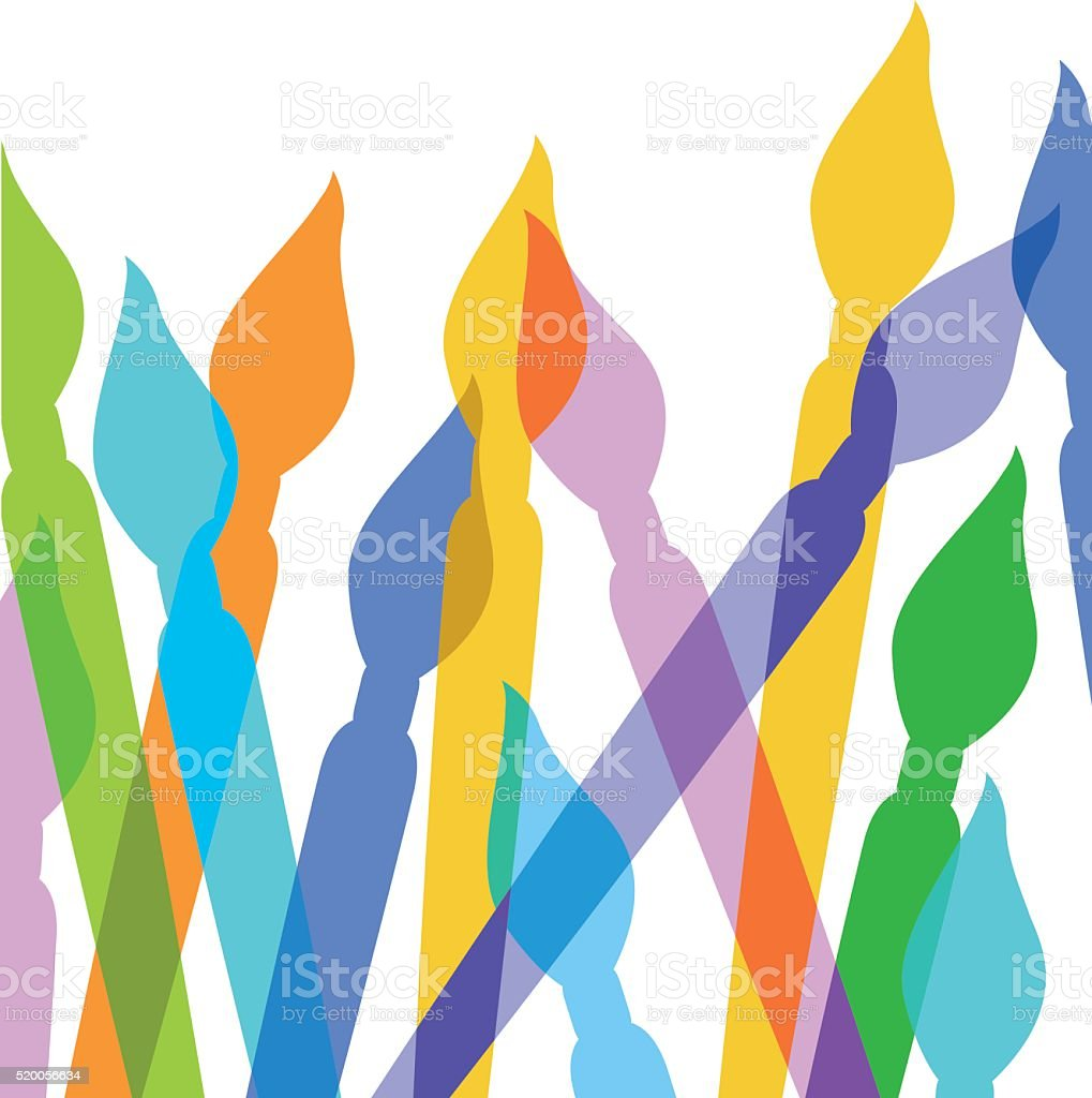 Paintbrushes vector art illustration