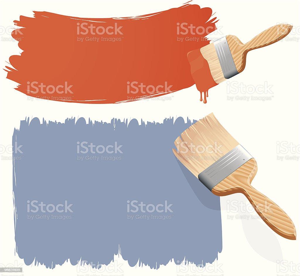 Paintbrushes. Vector illustration. royalty-free stock vector art