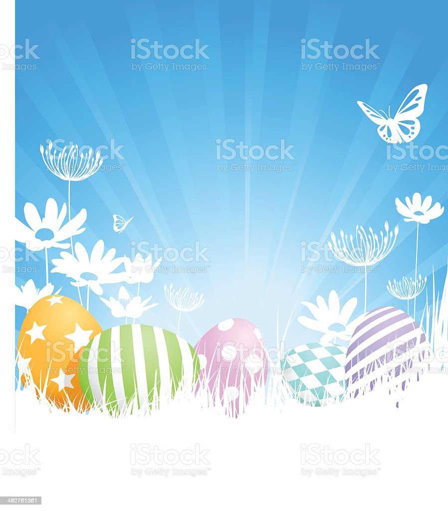 Painted Easter Eggs royalty-free stock vector art