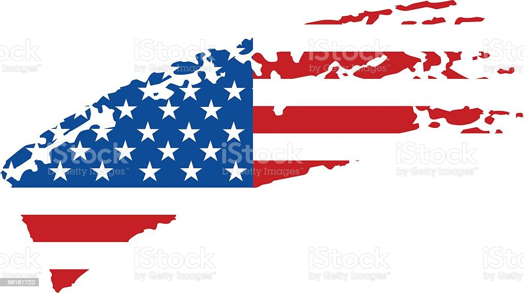 USA painted flag royalty-free stock vector art