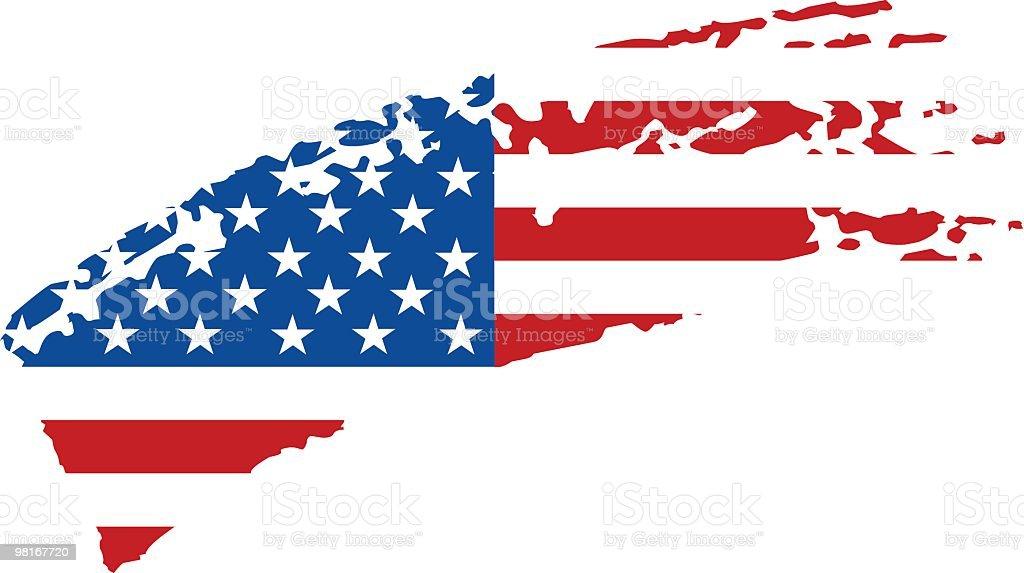 USA painted flag vector art illustration