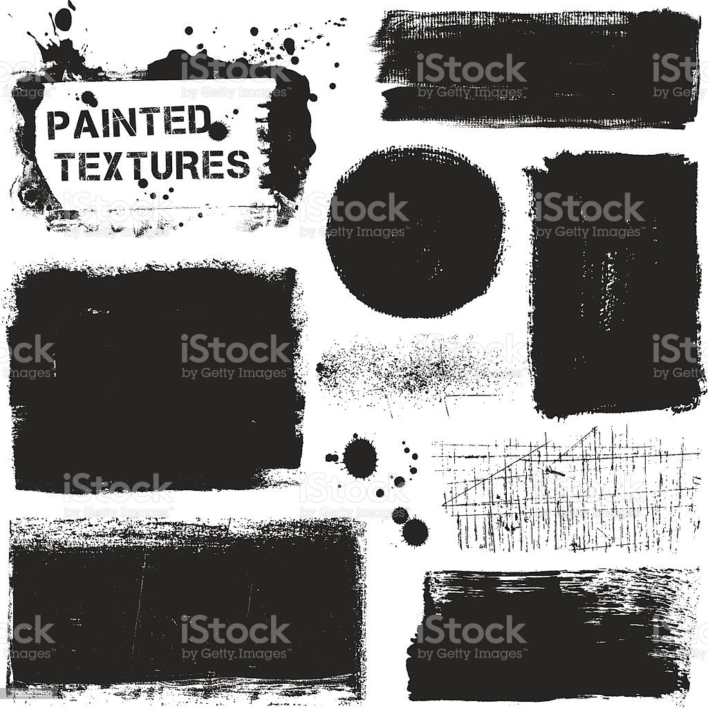 Painted Textures vector art illustration
