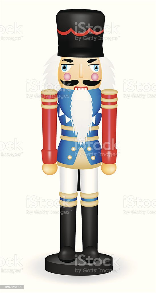 Painted toy soldier from the Nutcracker vector art illustration