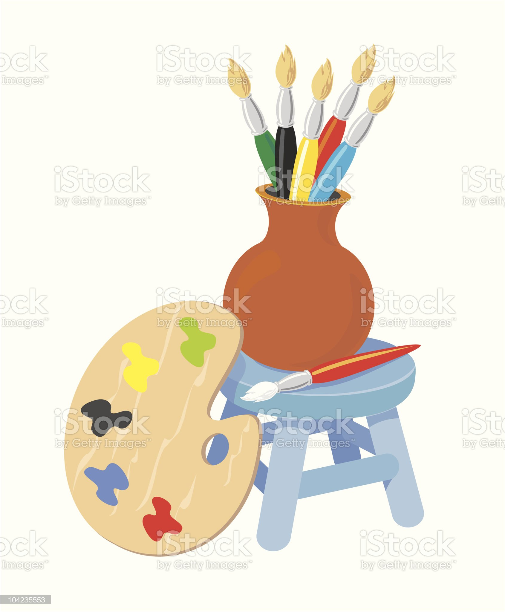 Painter Stuff royalty-free stock vector art