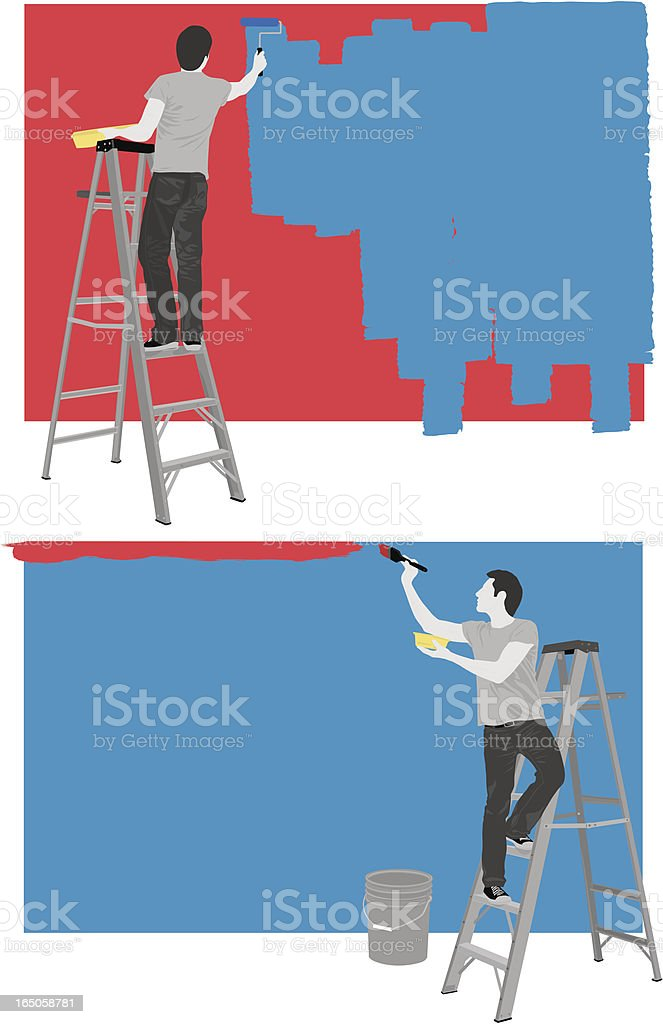 Painter vector art illustration