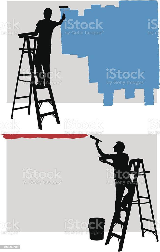 Painter vector art illustration