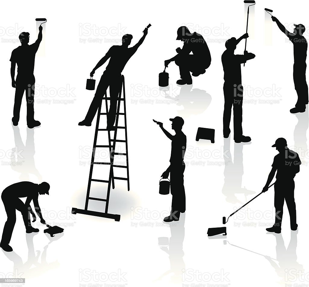 Painters - Home Improvement royalty-free stock vector art