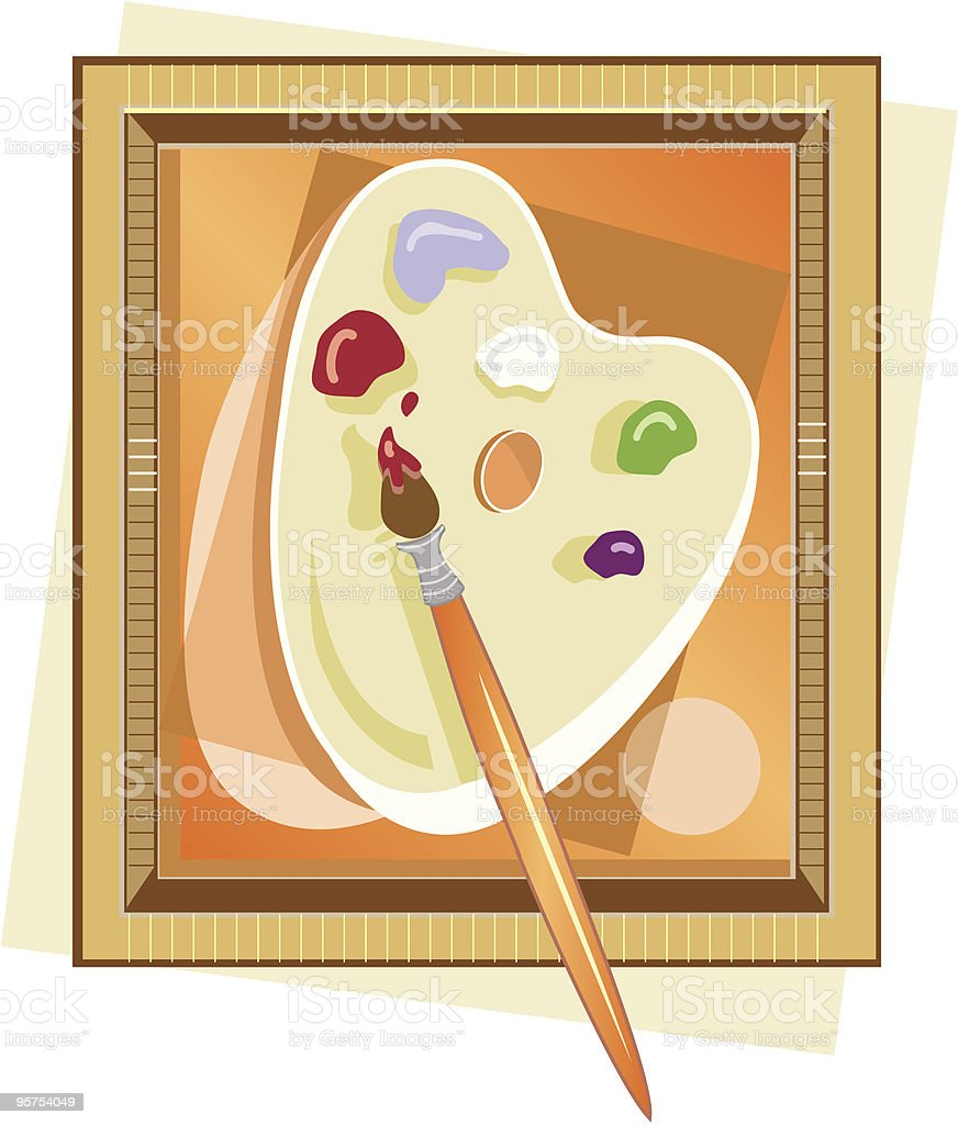 Painter's pallet masterpiece royalty-free stock vector art