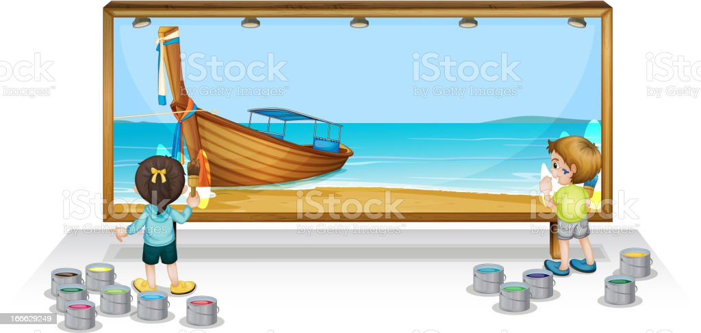 Painting a Thai vacation royalty-free stock vector art
