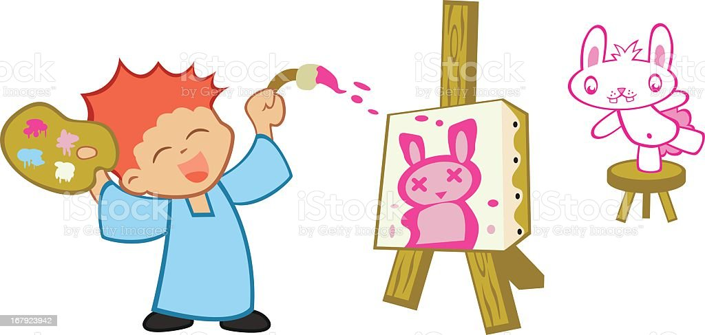 Painting Bunny royalty-free stock vector art