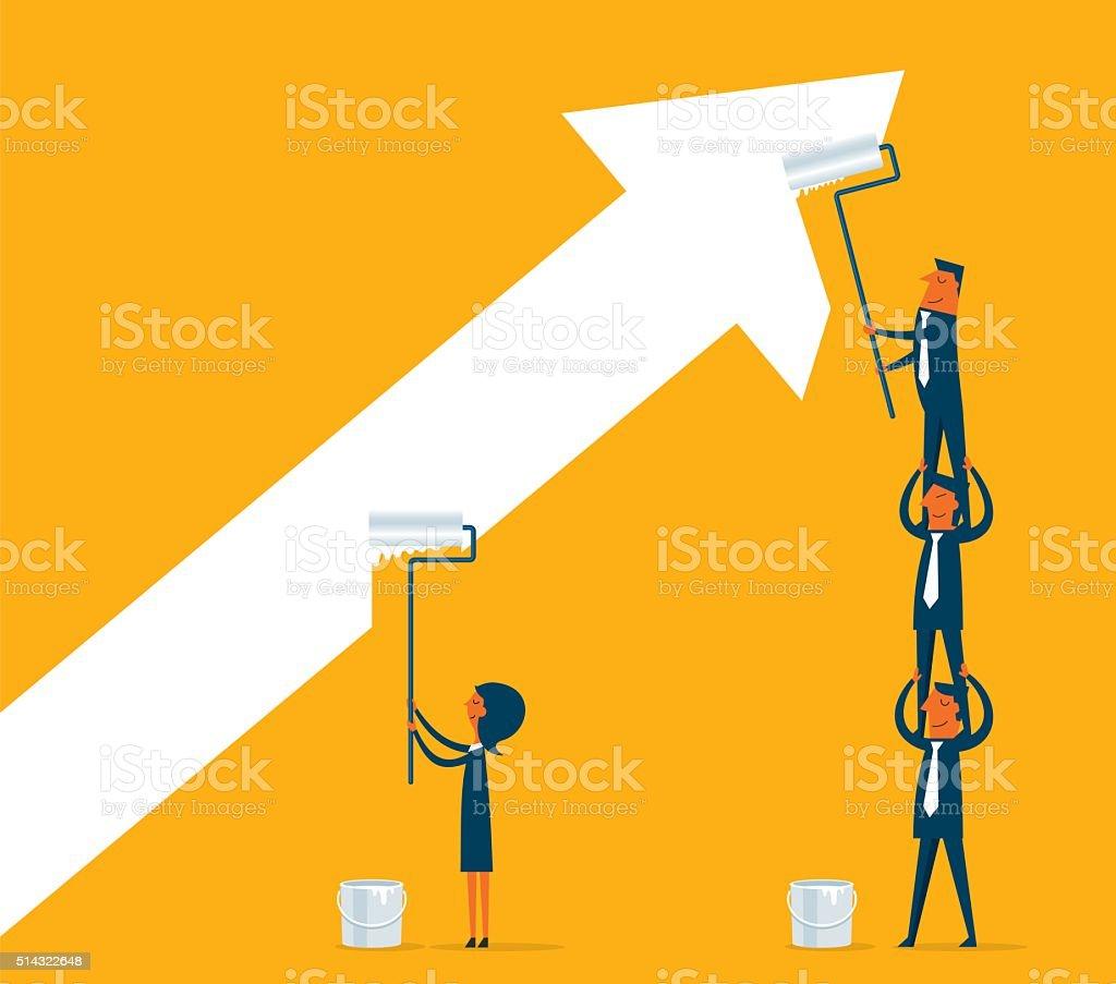 Painting Business vector art illustration