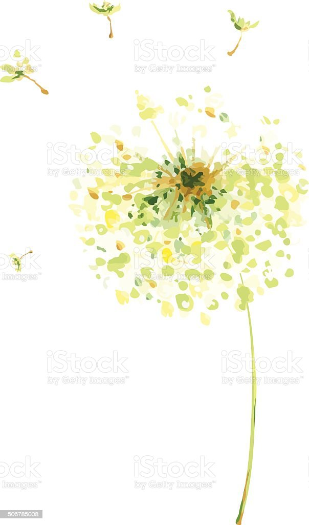 Painting, drawing -- air dandelions vector art illustration