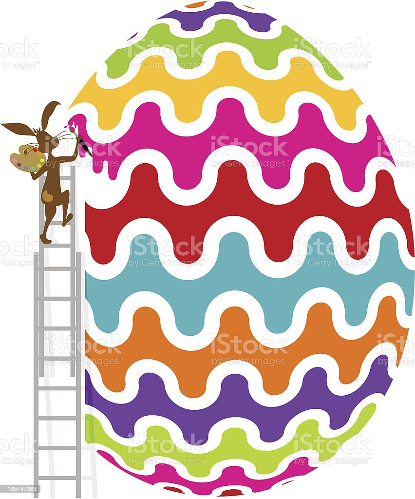 Painting Easter vector art illustration