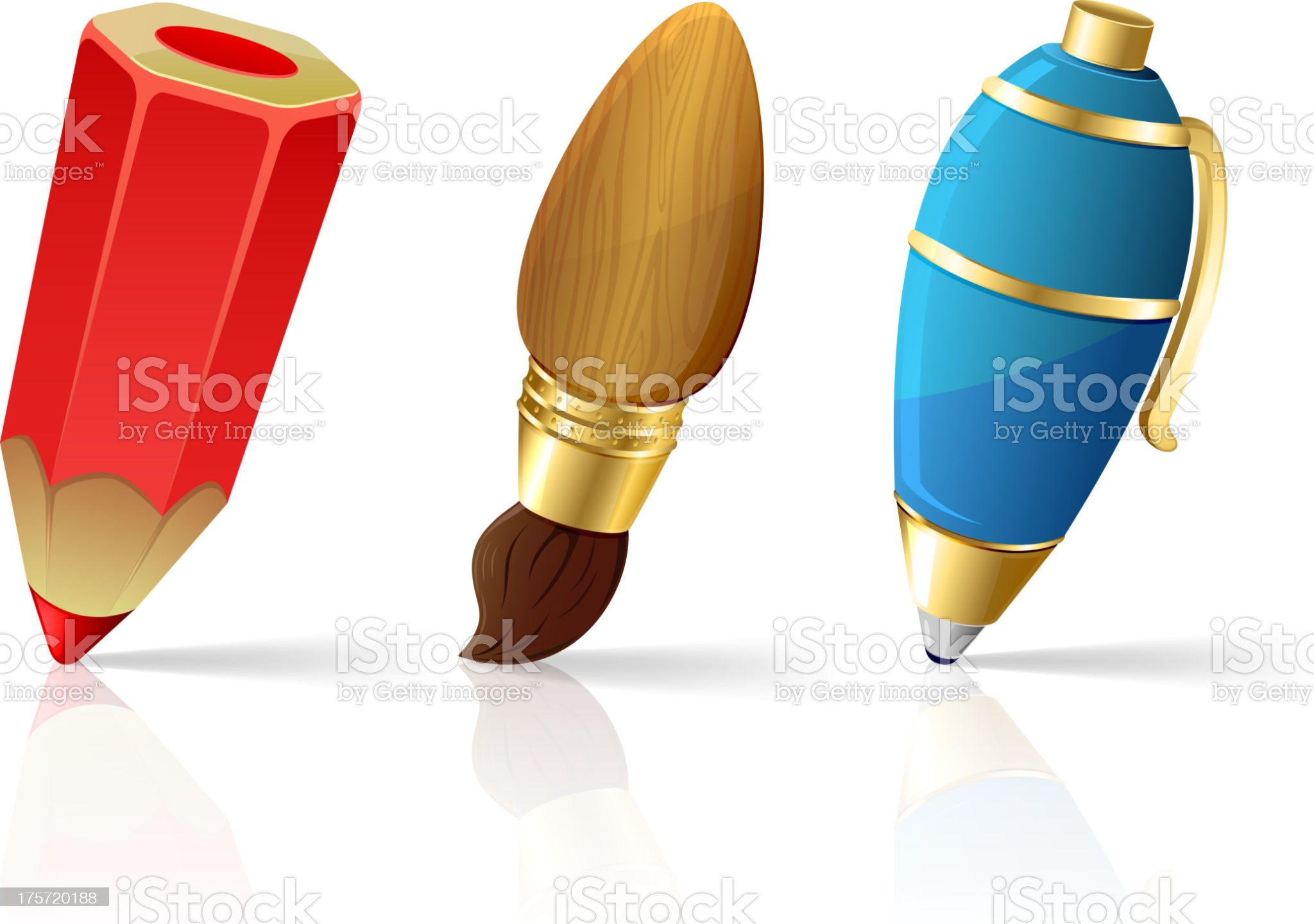 Painting icons royalty-free stock vector art