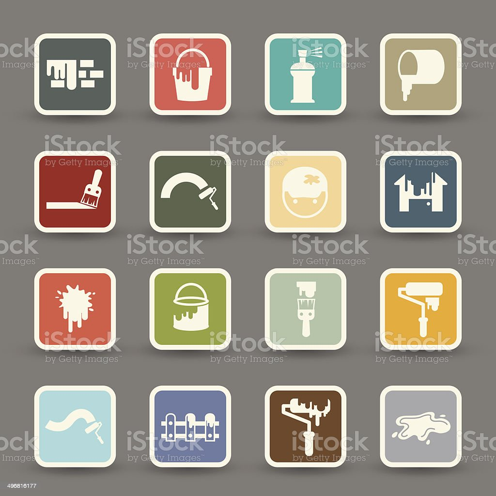 Painting Icons.vector eps10 royalty-free stock vector art