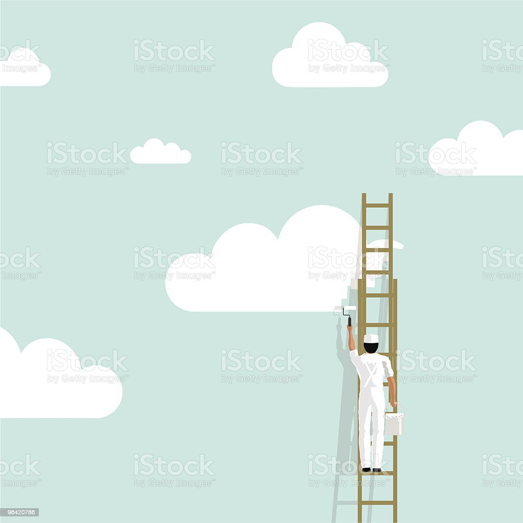Painting sky painter cloud background wallpaper creativity illustration vector vector art illustration