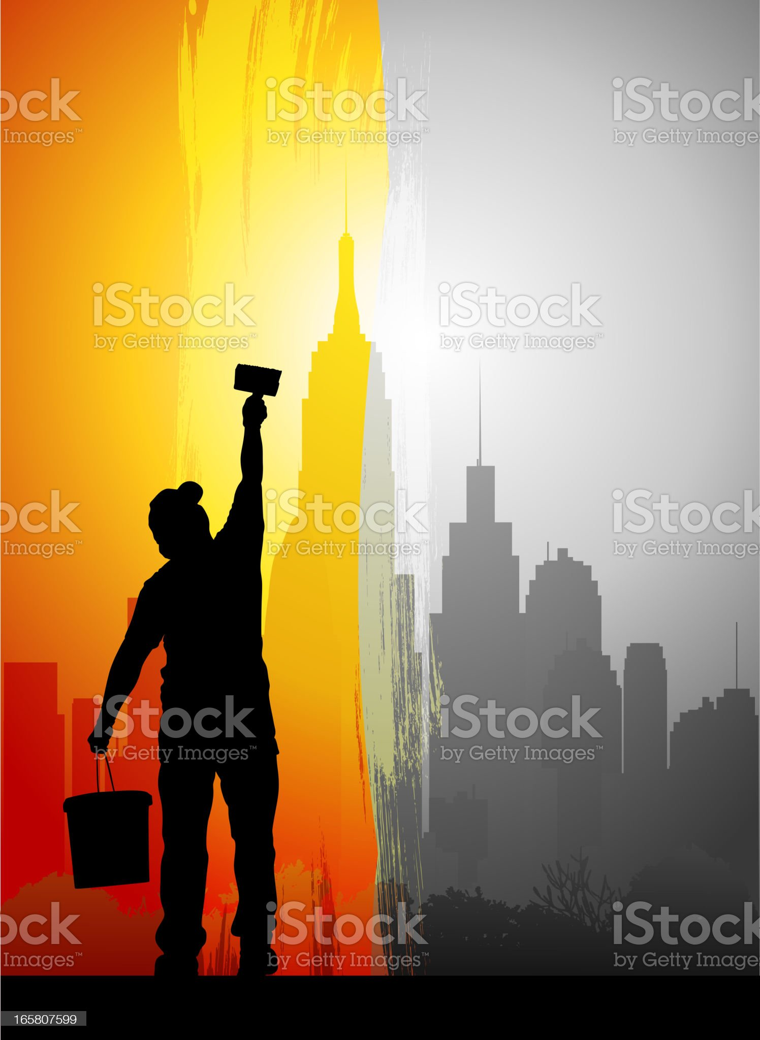 Painting the City royalty-free stock vector art