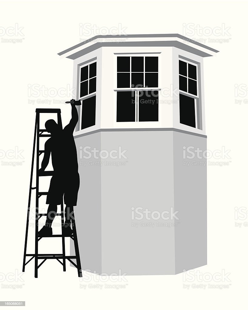 Painting Window Frames Vector Silhouette royalty-free stock vector art