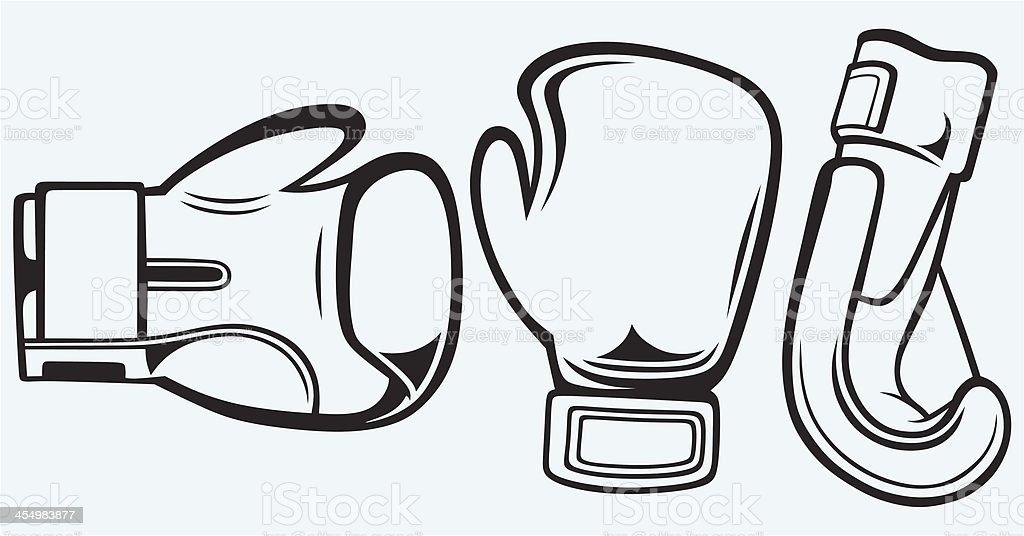 Pair boxing gloves vector art illustration