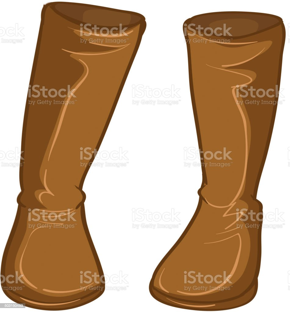 Pair of brown boots royalty-free stock vector art