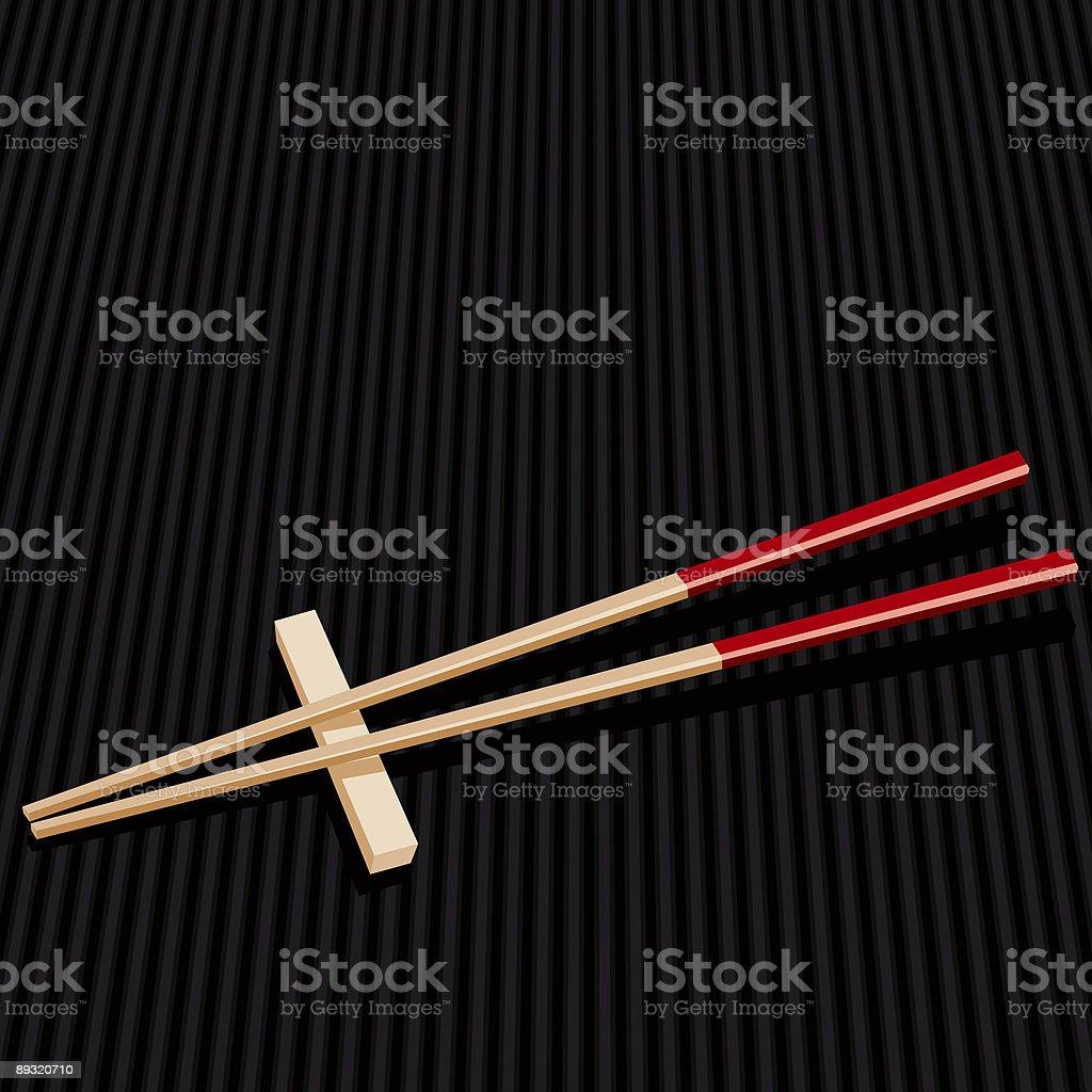 Pair of Chopsticks royalty-free stock vector art