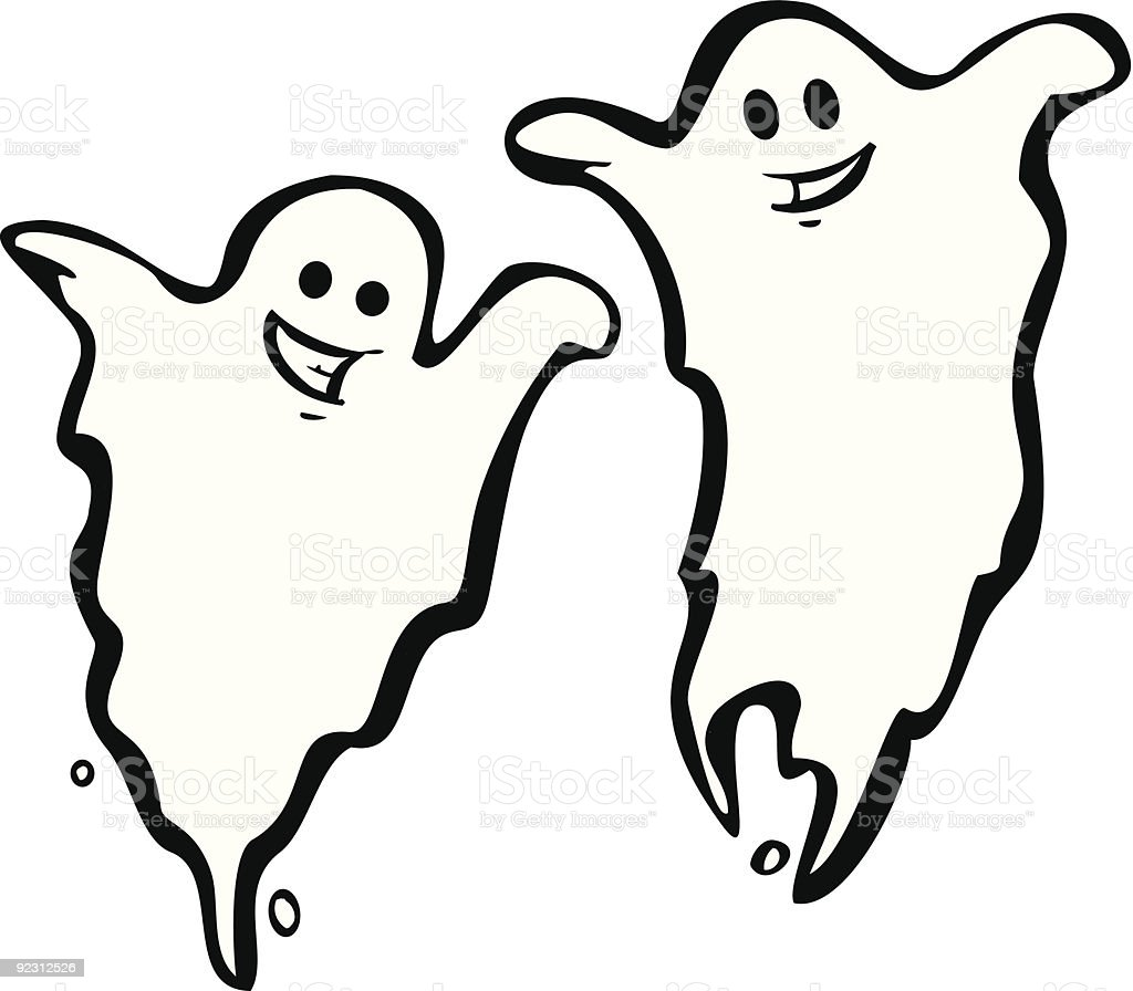 Pair of Ghosts royalty-free stock vector art