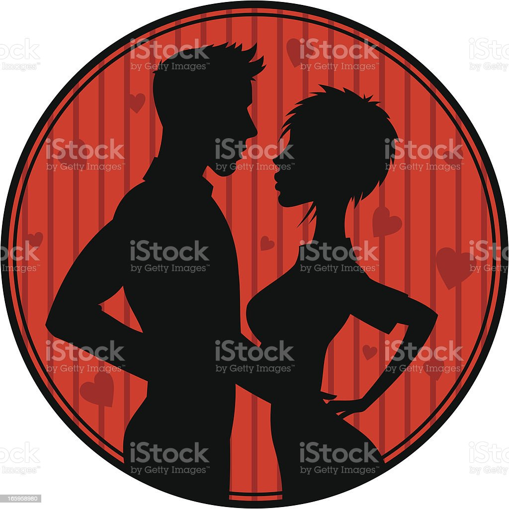 Pair of lovers royalty-free stock vector art
